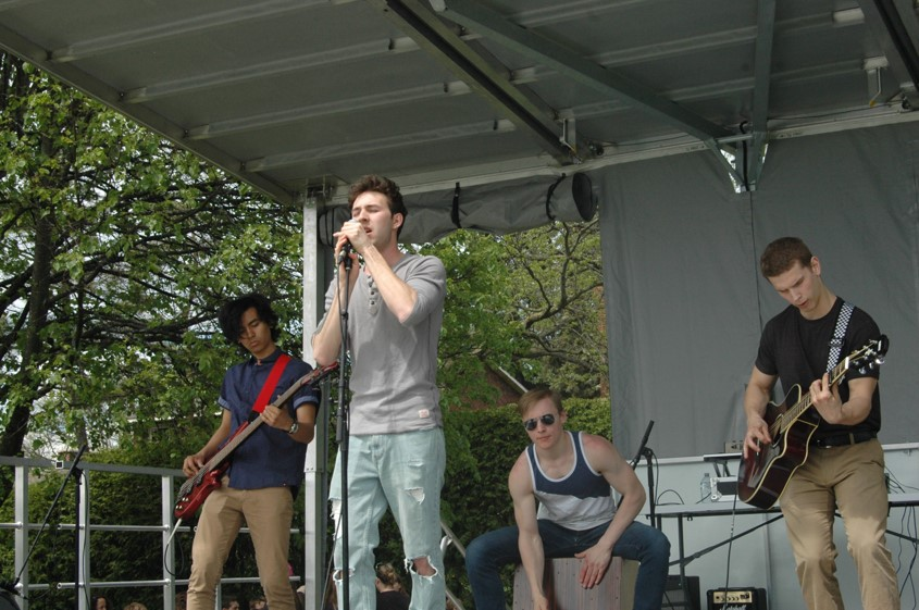 Band on stage final